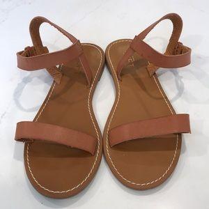 Loft brown sandals size 7